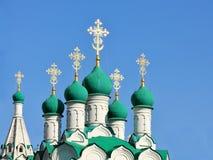 Зеленые куполы церков Стоковая Фотография RF