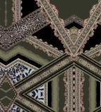 Зеленые линии геометрического дизайна фасонируют красивую текстуру ткани иллюстрации стиля иллюстрация штока