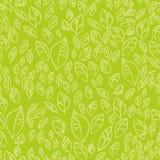 зеленые листья делают по образцу безшовное Стоковые Фотографии RF