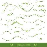 Зеленые листья летания иллюстрация штока