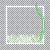 Зеленые листья папоротника и рамка точки белизны бесплатная иллюстрация