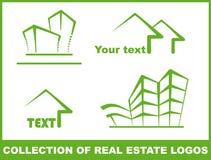 зеленые логосы Стоковые Изображения RF