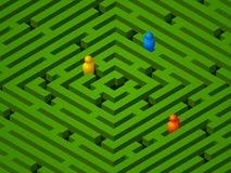 зеленые люди лабиринта Стоковое фото RF