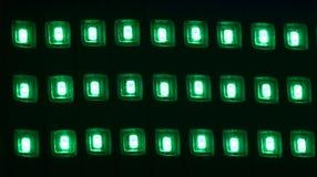 Зеленые неоновые света изолировали уникально фотоснимок стоковая фотография