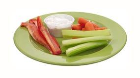 зеленые овощи заедк плиты Стоковые Фото