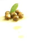зеленые оливки Стоковое Изображение RF