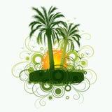 зеленые пальмы иллюстрация вектора