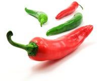 зеленые перцы красные Стоковые Фото
