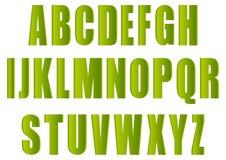 зеленые письма Стоковые Изображения RF