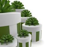 Зеленые подарки Стоковое фото RF