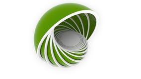 Зеленые полусферы или шары приспосабливать один другого дизайн 3D, различный размер или продукция пластмассы связали loopable дви иллюстрация вектора