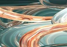 зеленые померанцовые проводы Стоковая Фотография