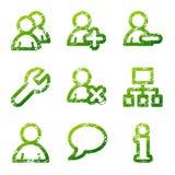 зеленые потребители икон grunge бесплатная иллюстрация