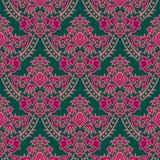 зеленые розовые обои иллюстрация штока