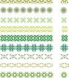 Зеленые символы Стоковая Фотография RF