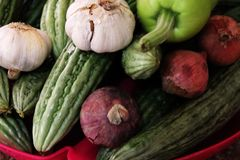 Зеленые смешанные овощи для здоровий стоковая фотография rf