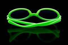 зеленые солнечные очки Стоковое Изображение RF