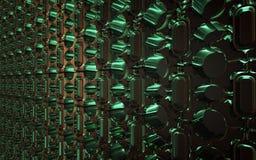 Зеленые стеклянные кирпичи иллюстрация вектора