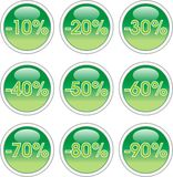 зеленые стикеры Стоковая Фотография