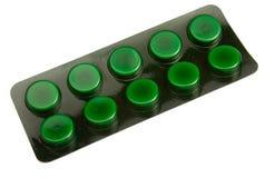зеленые таблетки упаковки Стоковое Фото