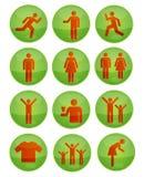 зеленые установленные иконы социальными Стоковая Фотография