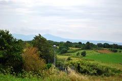 Зеленые холмы римского парка Стоковые Изображения