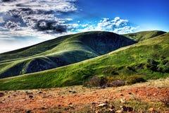 зеленые холмы Стоковые Изображения