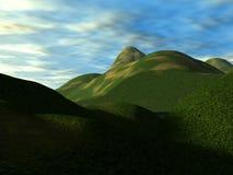 Зеленые холмы 8 Стоковые Изображения RF
