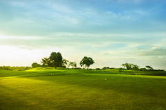 зеленые цвета гольфа Стоковое Изображение RF