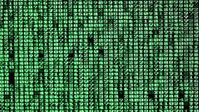Зеленые цифровые коды перечисляют на экране компьютера бесплатная иллюстрация
