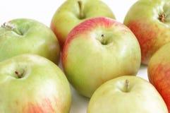 Зеленые яблоки на белой предпосылке с тенью Стоковые Фото