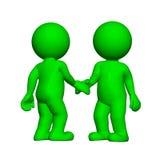 Зеленые 3D люди - предпосылка встряхивания практическая белая иллюстрация вектора