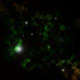 зеленые nebulae Иллюстрация вектора