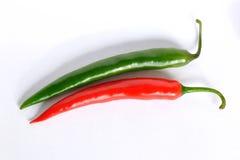 зеленые pepers красные Стоковое Изображение RF