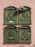 зеленые postboxes Италии Стоковое Изображение