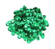 зеленые sequins Стоковое Изображение RF