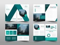 Зеленый абстрактный вектор шаблона дизайна брошюры годового отчета треугольника Плакат журнала летчиков дела infographic стоковые фотографии rf