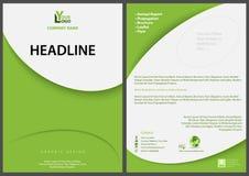 Зеленый абстрактный шаблон рогульки с современным простым дизайном Стоковое фото RF