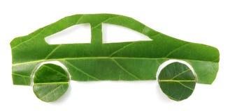 Зеленый автомобиль лист стоковые изображения rf