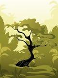 зеленый вал джунглей Иллюстрация вектора