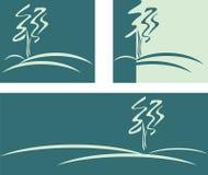 зеленый вал силуэта Стоковые Изображения