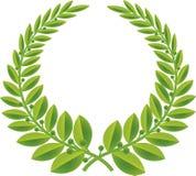 зеленый венок вектора лавра Стоковые Фотографии RF