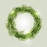 зеленый венок бесплатная иллюстрация