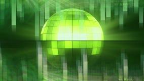 Зеленый вращая шарик диско иллюстрация вектора