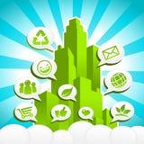 Зеленый город Eco Стоковая Фотография
