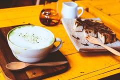 зеленый горячий чай Стоковое Фото