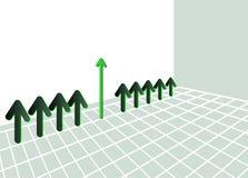 Зеленый график стрелки Стоковое фото RF
