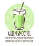 Зеленый дизайн карточки smoothie Стоковое Фото