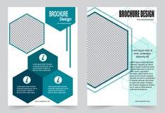 Зеленый дизайн рогульки шаблона брошюры Стоковая Фотография