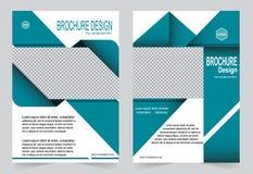 Зеленый дизайн рогульки шаблона брошюры Стоковая Фотография RF